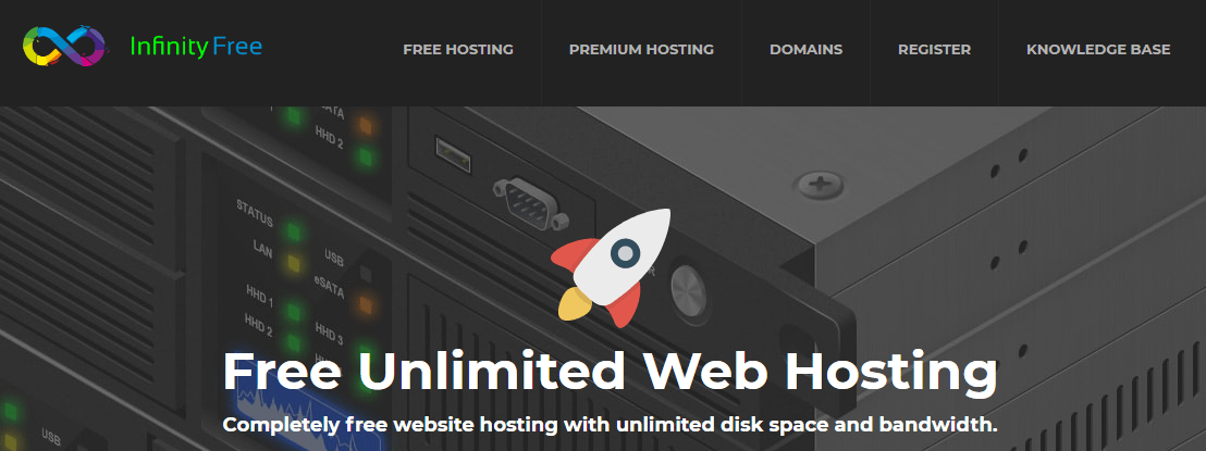 infinity free web hosting for website